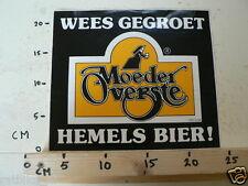 STICKER,DECAL MOEDER OVERSTE HEMELS BIER WEES GEGROET LARGE