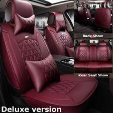 Wine Red Car Leather Seat Cover Cushion For Hyundai Elantra Sonata Kia Optima