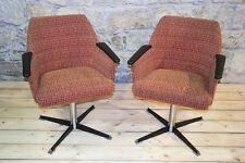 2 Pièces chaise Culte Rétro Fauteuil club De Salon - Tissu Paire pivotante