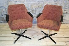 2 Stück Stuhl Kult Retro Clubsessel Lounge Sessel - chair Stoff Paar Drehsessel