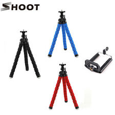 Red Octopus Tripod Stand Bubble Sponge Pod+Phone Clip for GoPro Camcorder D