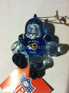 St. Louis Rams Crystal Halfback Ornament