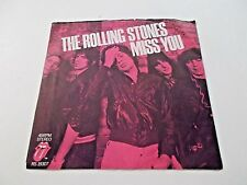 The Rolling Stones Miss You / Far Away Eyes 45 1978 Picture Sleeve Vinyl Record