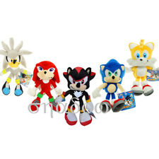 5 pcs Sonic the Hedgehog CHARACTER Knuckle Plush Doll Stuffed Xmas 8 inch Gift