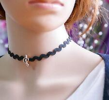 Women Gothic Black Lace Retro Choker Collar Lace Flower Pendant chain Necklace