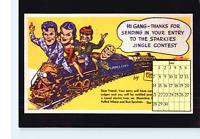 Calendar Card Lionel Train Terry Pirates Quaker Oats Puffed Wheat Rice Sparkies