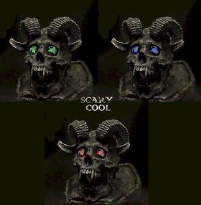 New Devil Head Horn Skull Grim Reaper Mens Gothic Biker Ring