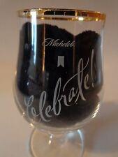 Ritzenhoff Cristal Beer Stem Glass ~ Anheuser-Busch MICHELOB Amber ~ Celebrate!