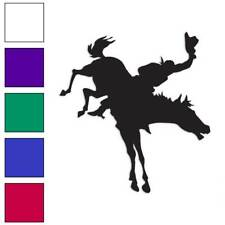 Horse Bucking Bronco Decal Sticker Choose Color + Size #974
