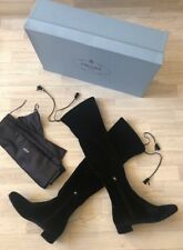 Prada Over Knee Long Velvet Boots Size 5 UK> 38 EU £760 Black New In Box