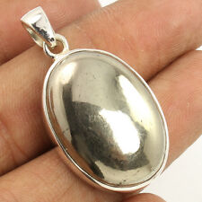 Natural GOLDEN PYRITE Gemstone 925 Sterling Silver Jewelry Hot Fashion Pendant
