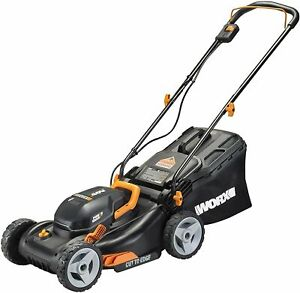 "WORX WG743 2X20V 17"" 4.0Ah Lawn Mower w/ Powershare, Mulching & Intellicut*"