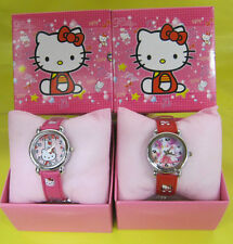 Hello Kitty Watch Wristwatch Girls Kids Boxed Gift Pink Red christmas gift