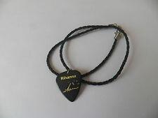 "Famous Guitar Pick plectrum picks signature gold printed 20"" Necklace Rihanna"