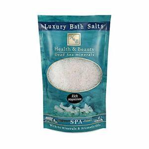 ✅ H&B Luxury Bath Salts- White Natural 500gr Dead Sea Minerals