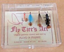 4 Vintage Floyd N Franke Fly Patterns w Autographed Card