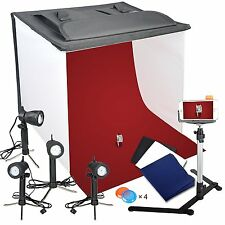 Emart Photography 24 x 24 Inches Table Top Photo Studio Continous Lighting LED &