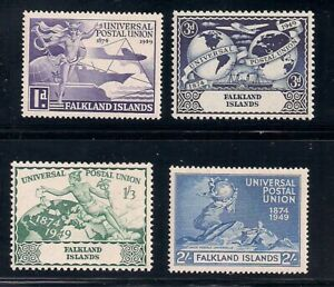 Falkland Is.   1949   Sc # 103-06   UPU    MNH   OG   (2017)