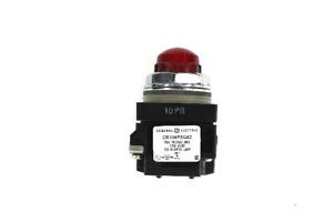 General Electric CR104PLG42R Indicator Pilot Light, Red Lens, 120V AC/DC