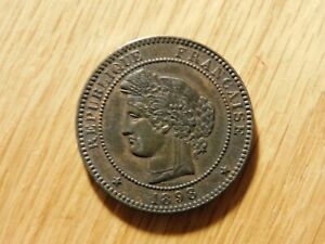 """1898 """"A"""" French """"Ceres design"""" 10 centimes XF"""