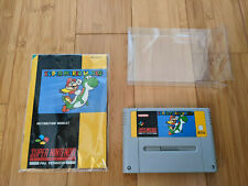 SNES/Super Nintendo - Super Mario World, Cartridge & Manual - VGC, Free Postage