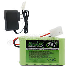 7.2V 700mAh NI-CD Rechargeable Battery Pack Cell For Toy RC HyperPS + Charger