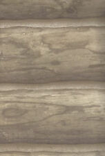 Ashen Taupe and Gray Logs Log Cabin Wallpaper per Double Roll     GQ111