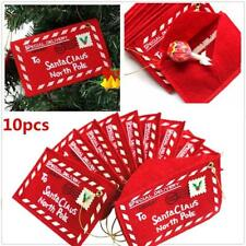 10 pcs Christmas Envelope Candy Card Santa Claus Letter Xmas Tree Hanging Gifts