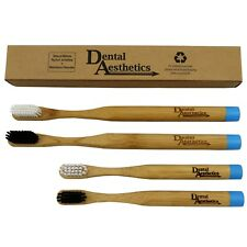 Bamboo Toothbrushes Family Pack ~ Childrens & Adults, Medium Bio-Degradable Kids