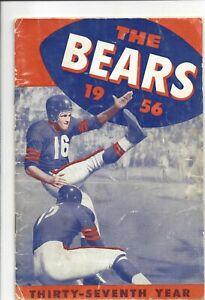 1956 Chicago Bears Football media guide, George Blanda, Rick Casares ~ Fair