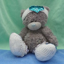 Me To You peluche ourson DIY 20 cm assis avec bandeau tricot strass + chaussons