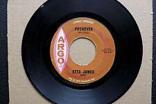 """7"""" Etta James - Pushover - US Argo"""