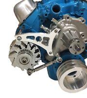 New Ford 351W Alternator Bracket V-Belt Mid Mount SBF Windsor 5.8L ALT Billet