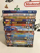 Marvel Comics Animated Cartoons 17 DVD bundle Spiderman, fantastic 4, avengers.
