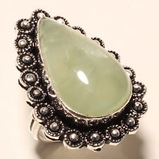 PREHNITE GEMSTONE 925 SILVER RING 6
