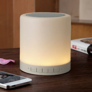 Smart LED Bluetooth Night Light Speaker Wireless Hanging Touch Sensor Lamp UK