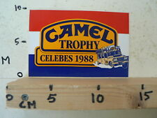 STICKER,DECAL CAMEL TROPHY 88 CELEBES 1988 D