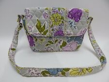 Vera Bradley Watercolor Pattern Flowers Small Handbag Tote Purse Retired 2012