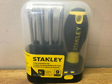 NEW STANLEY 62-511 9 PIECE SCREWDRIVER KIT FREE SHIPPING