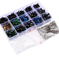 264pc 6-12mm Plastic Safety Eyes DIY Craft for Teddy Bear Doll Animal Puppet Toy