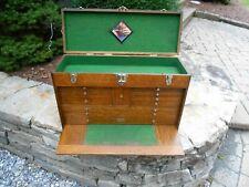 Vintage Gerstner Model 052 11 Drawer Oak Machinist Tool Chest