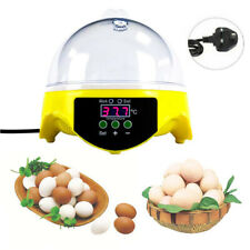 Digital Mini 7 Egg Incubator Poultry Bird Pet Hatcher Clear Temperature Control