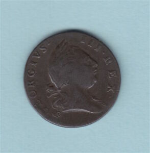 1773 Virginia Half Penny With Periods Colonial Coin 1/2 Cent US USA