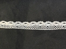 Ivory Cotton crochet lace trim Clothing Sewing DIY lace edge 1.5cm wide .Per M