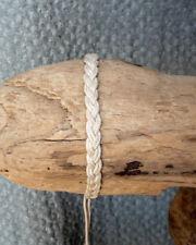 Bracelet unisexe réglable brésilien porte bonheur amitié en coton blanc tressé