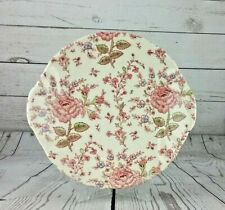 Johnson Brothers Rose Chintz Cake Plate  Excellent