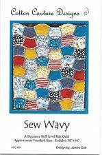 Rag Raggy Quilt Pattern SEW WAVY original design Child size Sewing NEW UNcut