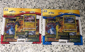 2x 2018 Pokemon Dragon Majesty 3-pack Blisters in Portuguese - FREE SHIPPING!