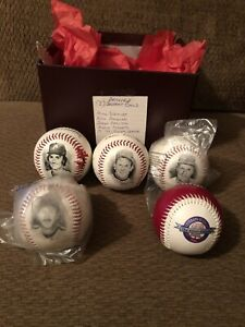 """1995 Philadelphia Phillies""""Silver Season""""Set Of 5 Baseballs Signed with/pictures"""