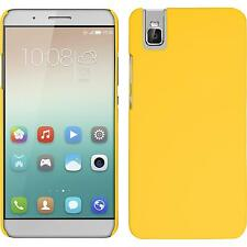 Hardcase for Huawei Honor 7i rubberized yellow Cover + protective foils
